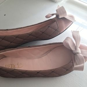RED Valentino Pink Lace Flats